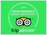 Trip Advisor erinomainen kohde sertifikaatti