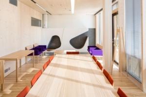 Pöytä kokoustilassa